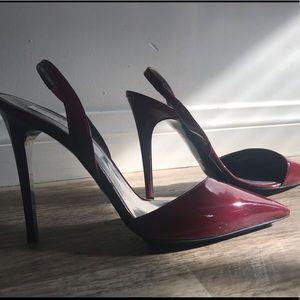 Ruby red sling back pumps - Stella McCartney